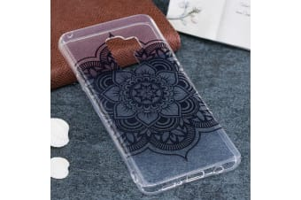 For Samsung Galaxy S9 PLUS Back Case Black Datura High-Quality Protective Cover