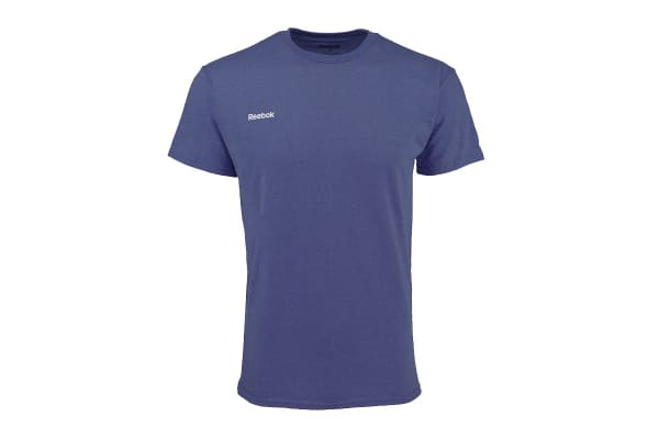 Reebok Men's Heathered T-Shirt (Navy Heather, Size L)