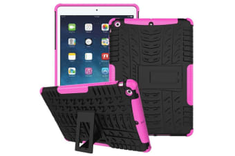 Heavy Duty Shockproof Case Cover Apple iPad 7th 10.2 2019-Pink