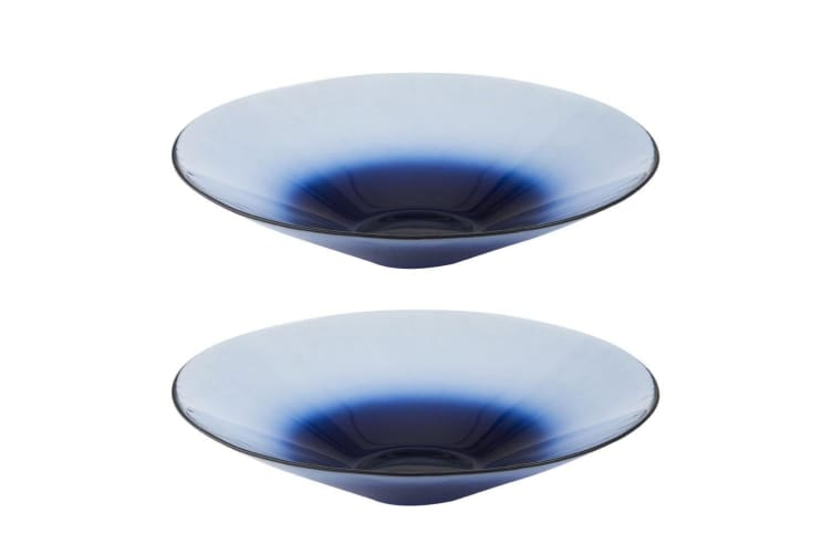 2PK Amalfi Santorini 39.5cm Serving Bowl Soup Salad Pasta Kitchen Tableware Blue