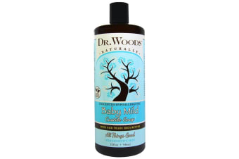 Dr. Woods Baby Mild Castile Soap with Fair Trade Shea Butter Unscented - 946ml