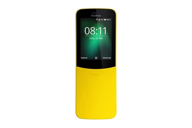Nokia 8110 4G Dual SIM (4GB, Banana Yellow)