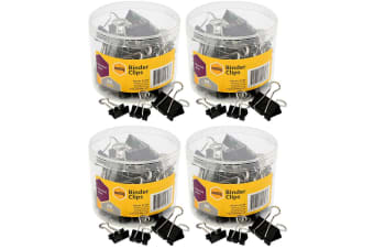 240PC Marbig Paper Fold Back/Binder Clips Assort Sizes Office/Home Use/Essential