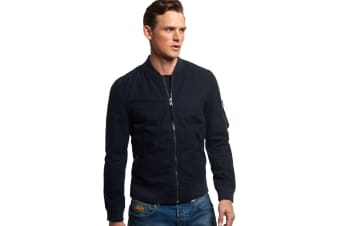 Superdry Men's Rookie Drone Bomber Jacket (Midnight, Medium)