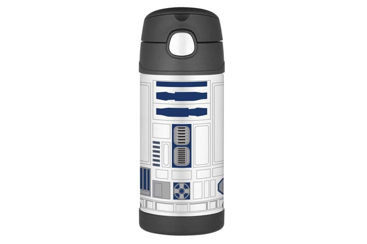 2x Thermos Funtainer 355ml Insulated Stainless Steel Drink Bottle Star Wars R2D2