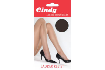 Cindy Womens/Ladies Ladder Resist Tights (1 Pair) (Barely Black)