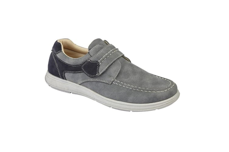 Scimitar Mens Touch Fastening Casual Shoe (Grey) (6 UK)