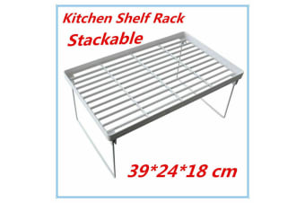 3 x Large Collapsible Shelf Rack Kitchen Pantry Plastic Food storage Organiser Bathroom Office FD