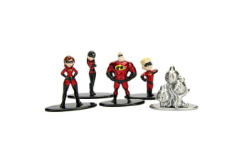 Incredibles Nano Metalfigs 5 Pk