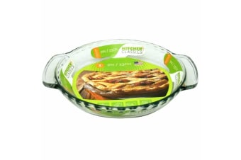 New Kitchen Classics Glass Deep Pie Plate Tray 23cm