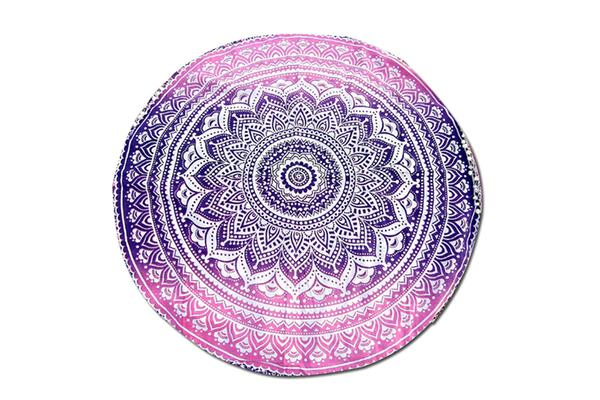 TODO Luxury Edition Chiffon Digital Print Beach Throw Yoga Towel Mat Pink