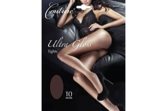Couture Womens/Ladies Ultra Gloss Tights (1 Pair) (Barely Black)