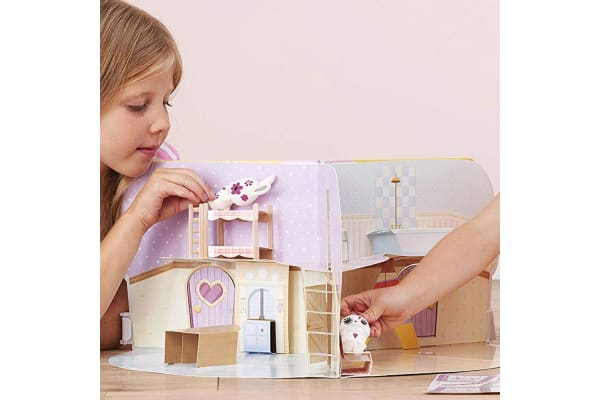 Fuzzikins Cottontail Cottage Book and Playhouse