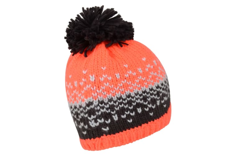 Dare 2B Womens Ideation Beanie (Fiery Coral/Ebony) (One Size)