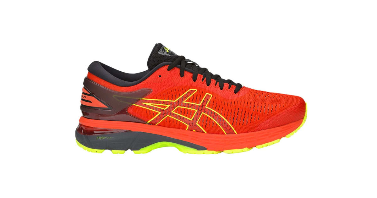 cheapest sale online for sale how to choose ASICS Men's Gel-Kayano 25 Running Shoe (Cherry Tomato/Safety Yellow, Size  11.5) | Shoes