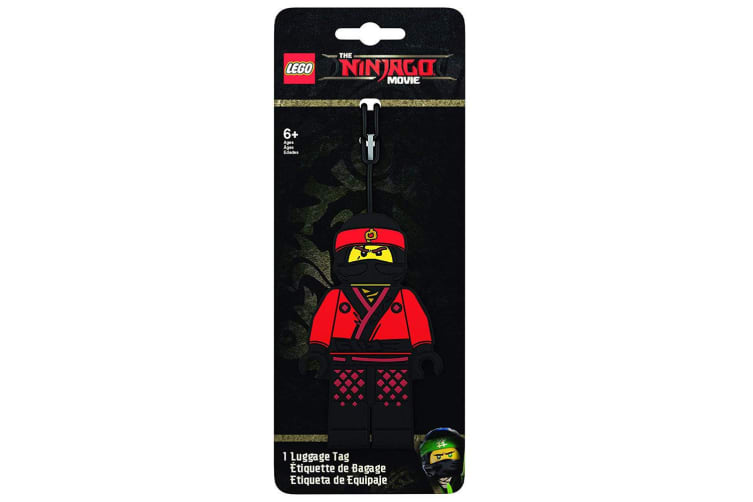 2x Lego Movie Ninjago Silicone Luggage/Suitcase Name/Label Travel Bag Red Tag