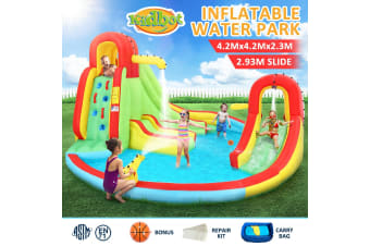 7 In 1 Inflatable Water Park Blow UP Water Playground Pool Slide
