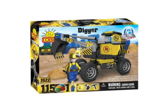 Action Town 115 Piece Construction Digger Construction Set