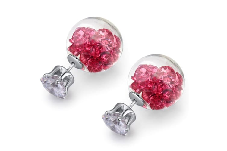 Stardust Bubble Earrings Pink-White Gold/Pink