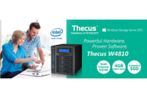 Thecus W4810+ 4Bay Windows Storage Server Essentials NAS, Quad Core Celeron 1.6GHz/4GB/60GB SSD. Office 365 & MS (LS)