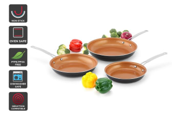 Ovela 3 Piece CeraMax Ceramic Frypan Set