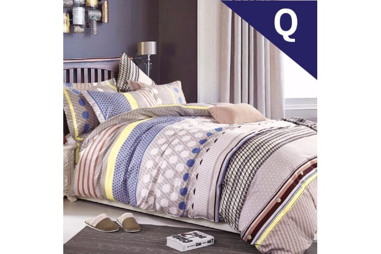 Queen Size Adeline Design Quilt Cover Set