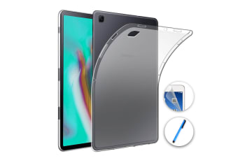 """Samsung Galaxy Tab S5e 10.5"""" Ultra-Thin Transparent Clear TPU Gel Case by MEZON (SM-T720, T725) – Anti Scratch, Shock Absorption – with Screen Protector and Stylus"""