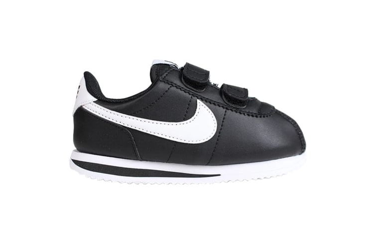 Nike Boys' Cortez Basic SL Shoes (Black/White, Size 7 US)