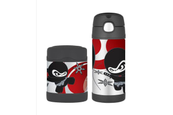 Thermos Funtainer 290ml Food Container + 355ml Drink Bottle Ninja