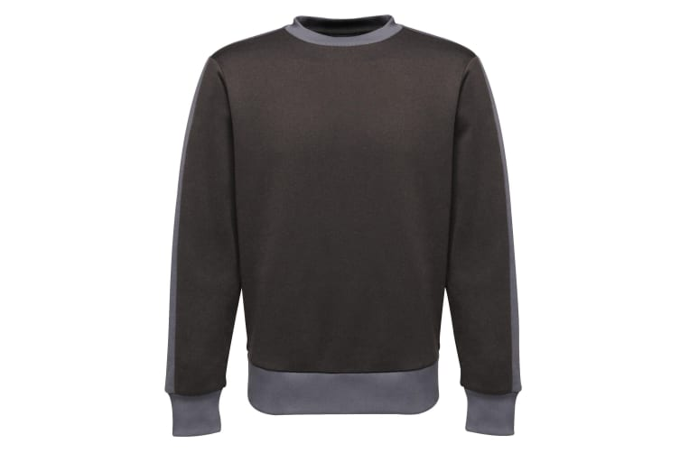 Regatta Mens Contrast Crew Sweater (Black/Seal Grey) (3XL)