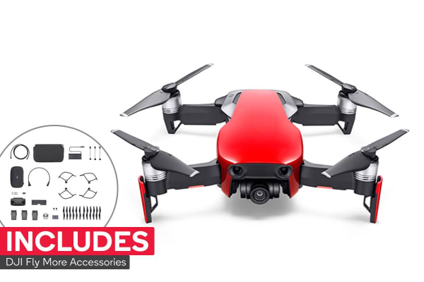 dick smith dji mavic air drone fly more combo flame red drones. Black Bedroom Furniture Sets. Home Design Ideas