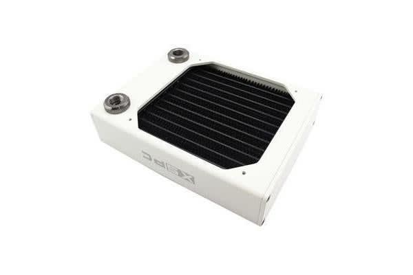 XSPC AX120 Radiator - Single Fan - White- high performance copper/brass radiator core