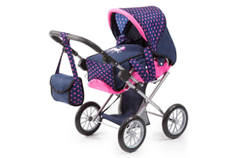 Bayer City Star 72cm Doll Pram/Stroller/Bassinet/Bag w/Pink Hearts Kids Toy 3+