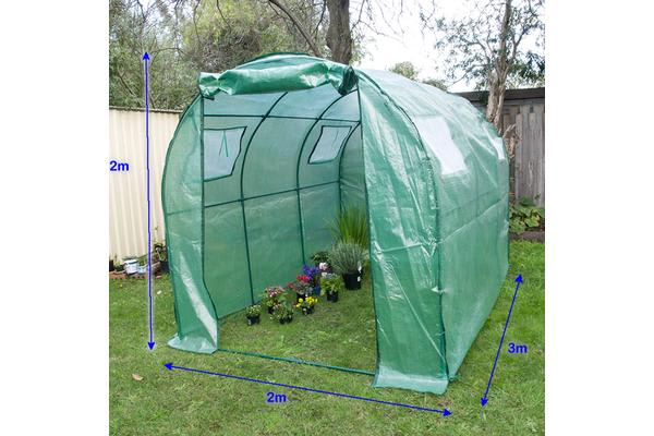 Garden Arc Roof Greenhouse 300 x 200 x 200cm