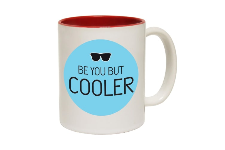 123T Funny Mugs - Beyou Cooler - Red Coffee Cup