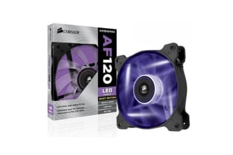 Corsair Air Flow 120mm Fan Quiet Edition Purple  LED 3 PIN - Superior cooling performance and LED illumination