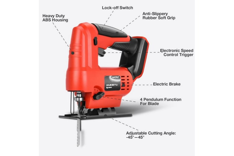 Matrix Power Tools 20V Cordless Jigsaw Cutting Tool Skin Only NO Battery Charger