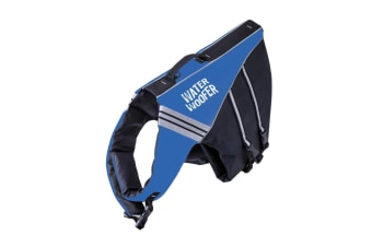 Water Woofer Dog Life Jacket - Blue and Black Dog Floatation Device - DFD [Size: Small]