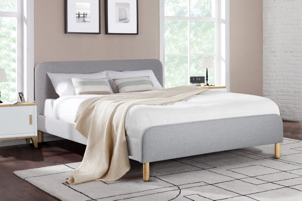 Ovela Bed Frame - Kastellet Collection (Pearl Grey, Double)