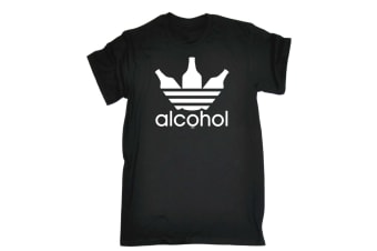 123T Funny Tee - Alcohol Sportswear - (3X-Large Black Mens T Shirt)
