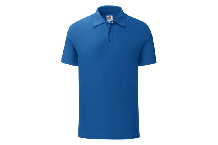 Fruit Of The Loom Mens Iconic Polo Shirt (Royal Blue) (L)