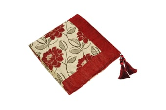 Riva Home Mayflower Throw (Red) (145x180cm)