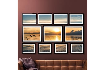 Black Photo Frames Picture Frame Wall Set Collage Home Decor Gift Present 11pcs