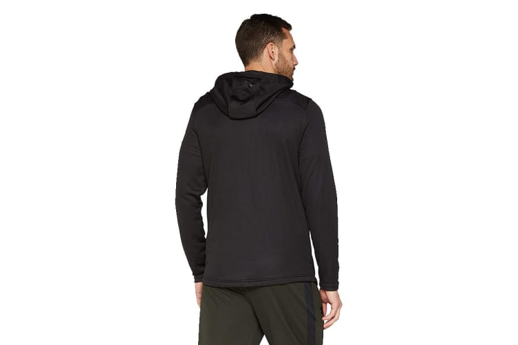 Under Armour Men's MK-1 Tech Terry Graphic Hoodie (Black, Size Large)