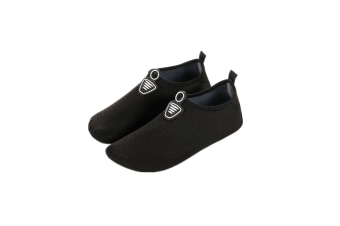 Water Socks Soft Slippers Sports Aqua Shoes Wading Diving Shoes Barefoot Shoes Black 26-27