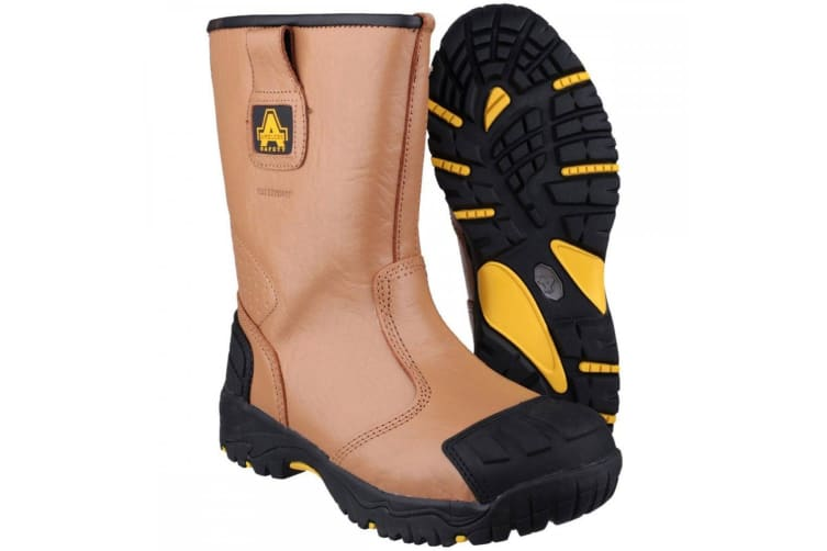 Amblers Safety FS143 Mens Safety Rigger Boot (Tan) (15 UK)