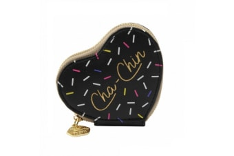 Sweet Tooth Womens/Ladies Cha Chin Heart Purse (Black)