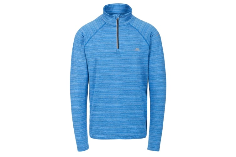 Trespass Mens Birney Long Sleeve Active Top (Bright Blue) (L)