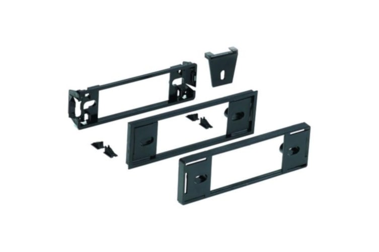 Facia kit for ford Car with New aftermarket stereo system Black colour