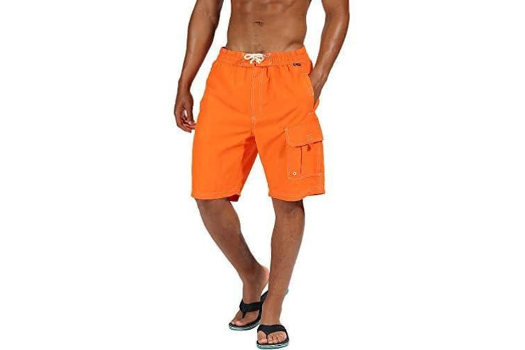 Regatta Mens Hotham III Mesh Quick Drying Board Shorts (Blaze Orange) (L)